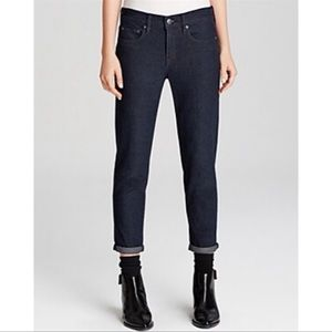 VINCE MASON RELAXED HIGH RISE ROLLED JEANS